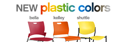 New plastic colors for Kelley, Shuttle and Bella